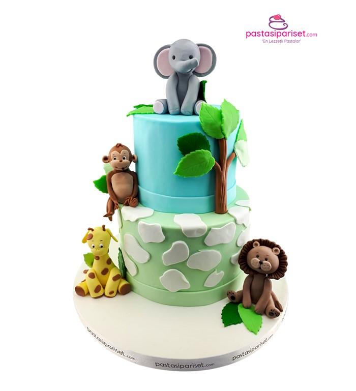 hayvanlar alemi pasta tasarımı